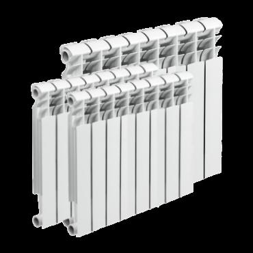 Монтаж 3 батарей отопления