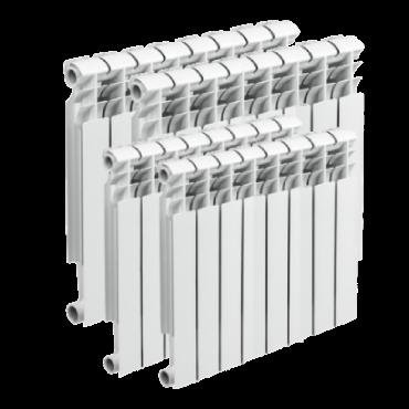 Установка 4 батарей отопления