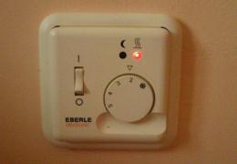 Монтаж комнатного термостата